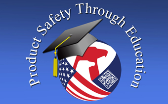 "logo with the words ""Product Safety Through Education"""
