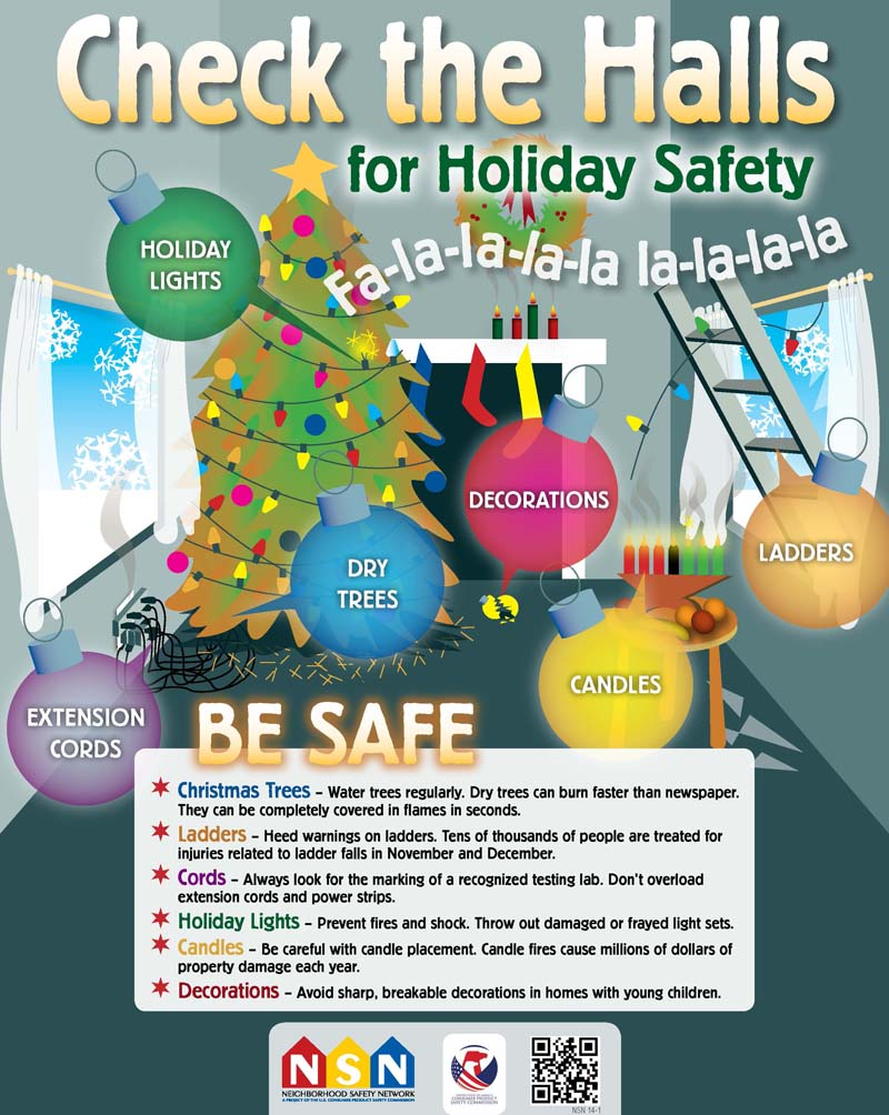 "Download the free <a href=""http://http://www.cpsc.gov//Global/Safety%20Education/Neighborhood-Safety-Network/Posters/ChecktheHalls2013NSN%2014-1.pdf""> Check the Hall poster</a>"