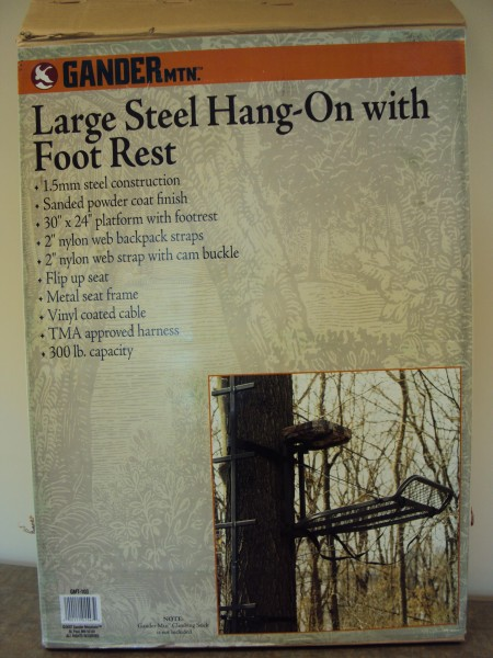 Recalled Large steel hang-on with foot rest Treestand box