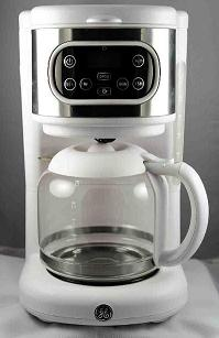 Recalled White Digital Coffee Maker