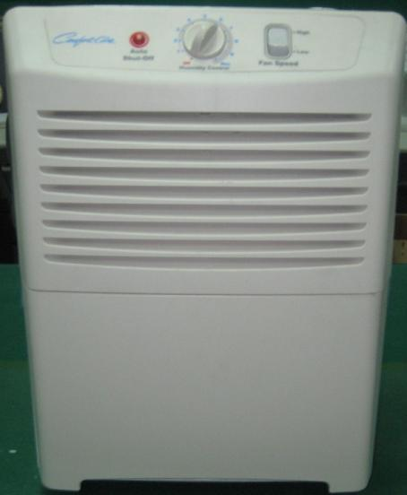 Recalled Comfort-Aire dehumidifier
