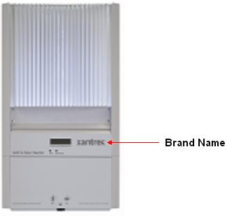 Recalled inverter and location of brand name
