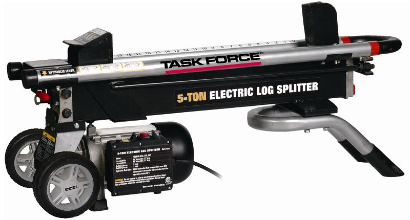 Recalled electric log splitter