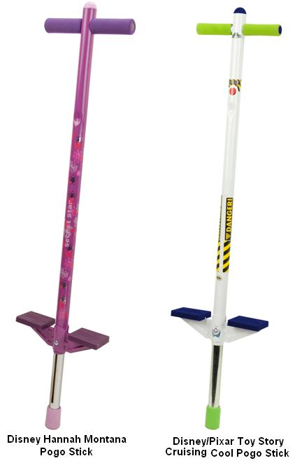 Picture of recalled Disney Hannah Montana , Pixar Toy Story Cruising Cool Pogo Sticks
