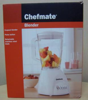Recalled blender packaging