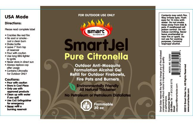 Picture of label on recalled Smart Garden Pourable Gel Fuel