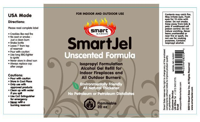 Picture of label on recalled SmartJel Pourable Gel Fuel