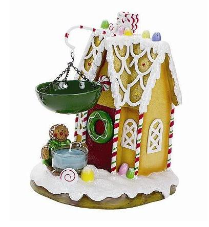 Gingerbread house tea light candle warmer
