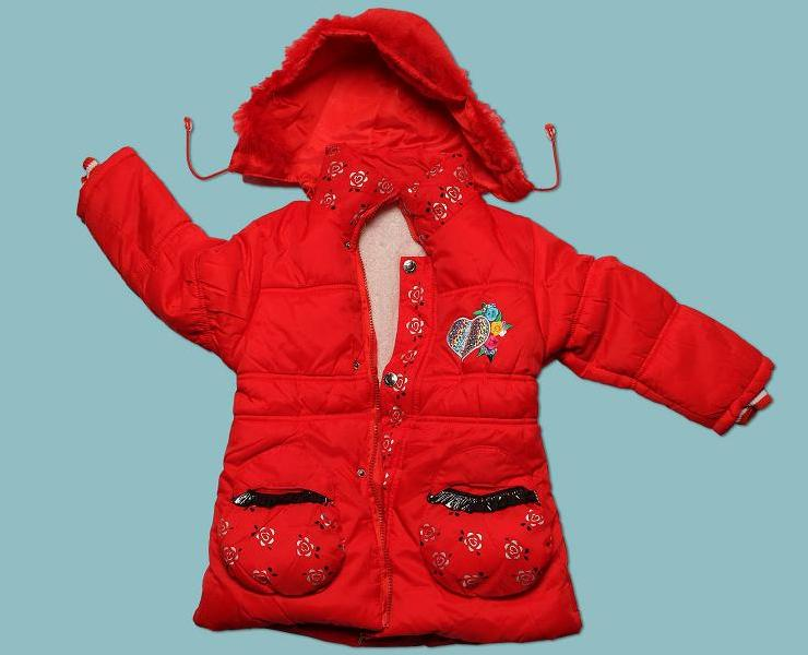 Girls' hooded jacket with drawstring