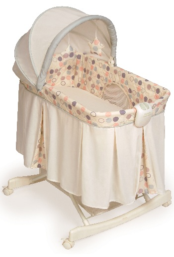 Tender Vibes Deluxe Rocking Bassinet (polka dot cover)