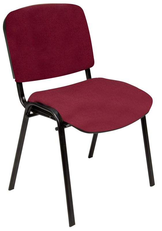 Oakmont burgundy stackable chair