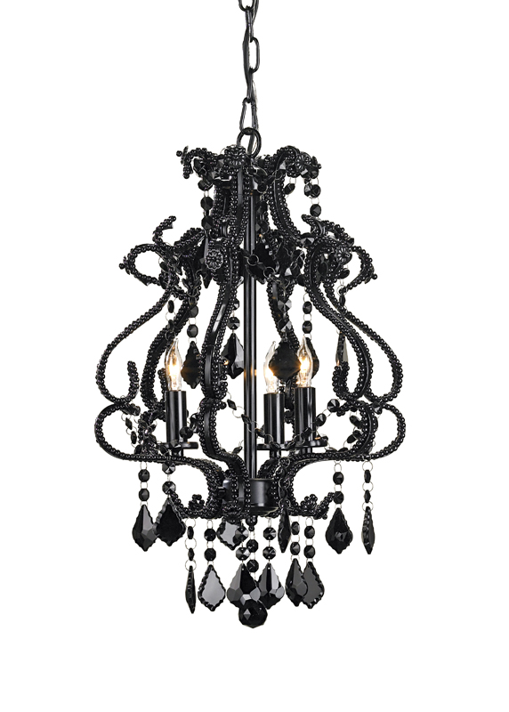 9062 Valentina chandelier, small, black
