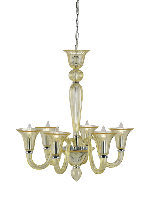 9152 Guistina chandelier, yellow