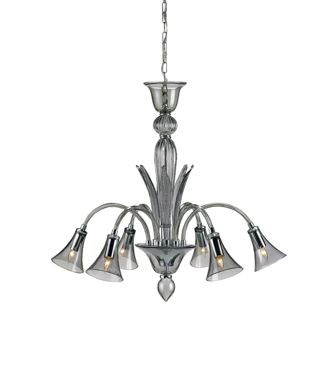 9155 Giselle chandelier, smoke