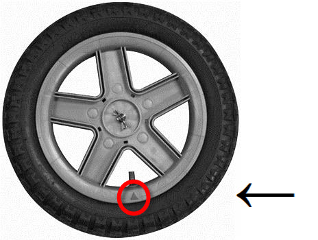 Triangle under your valve stem means your wheel is not part of this recall.