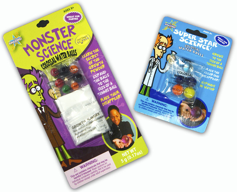 e Amazing! Toys Recalls Monster Science and Super Star Science Colossal Water Balls Due to Serious Ingestion Hazard
