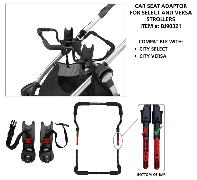Select/Versa stroller and adaptor #BJ90321