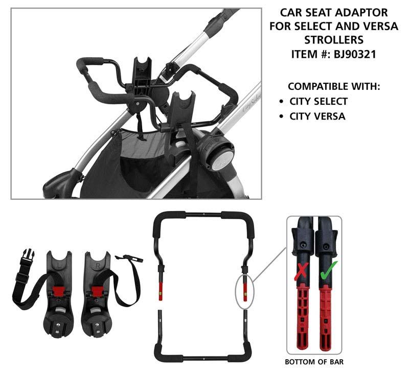 Select/Versa stroller and adaptor #BJ90321