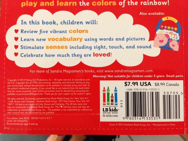 Red, Green, Blue back cover