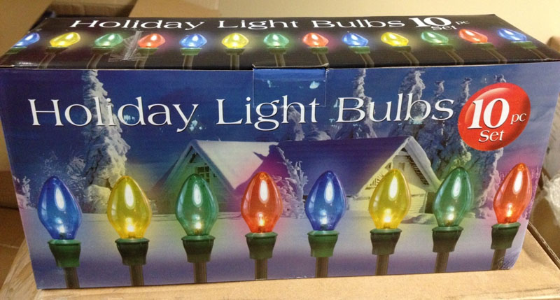 Big Lots Holiday Light Bulbs 10-piece set