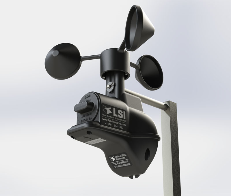 Photo 1 Caption: LSI Wind Speed Sensor Model GS025
