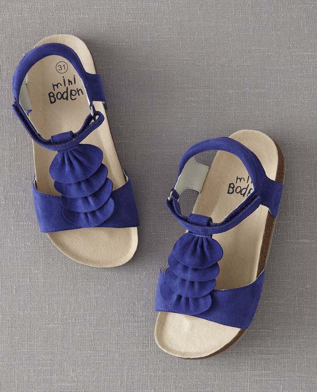 JP Boden blue girls' sandals