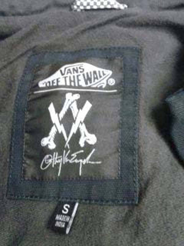 Jacket label