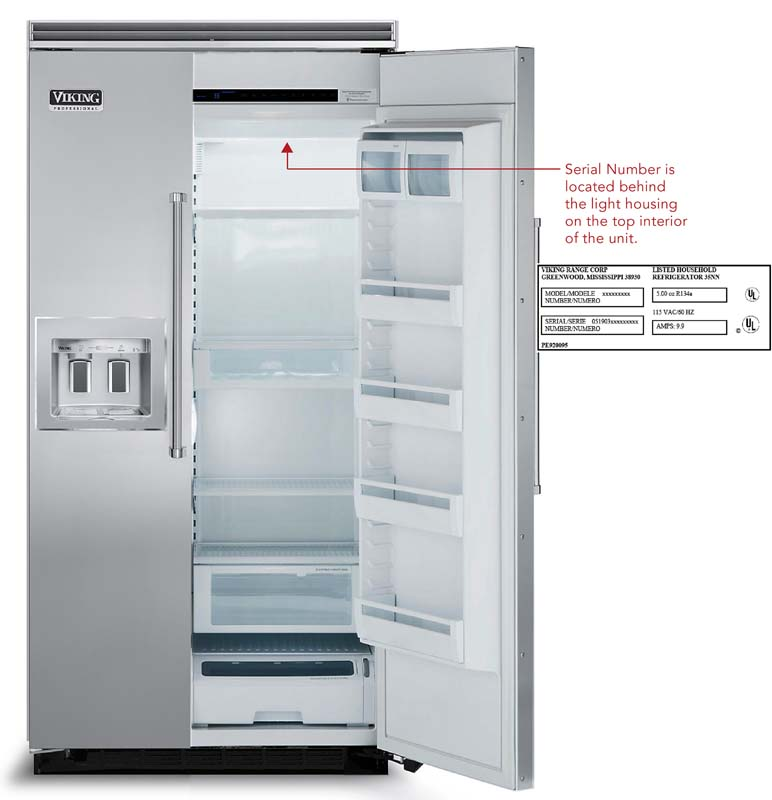 Viking Recalls Built In Side By Side Refrigerator Freezers