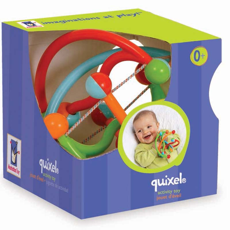 Manhattan Group Quixel baby rattle in product box