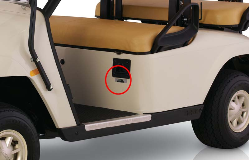 ezgo golf cart serial number location