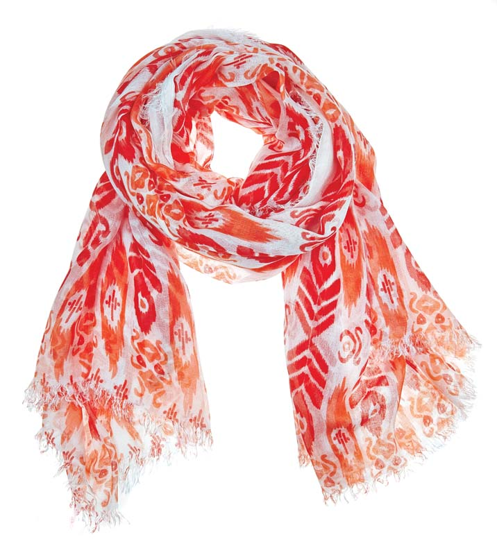 Julie Vos Sierra women's Sierra scarf – orange/peach