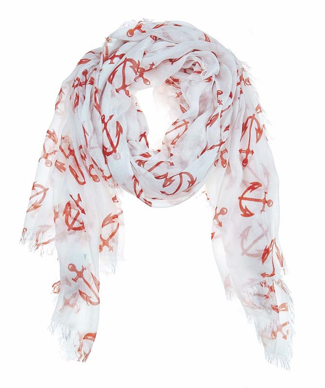 Julie Vos Sierra women's Anchor scarf -- orange