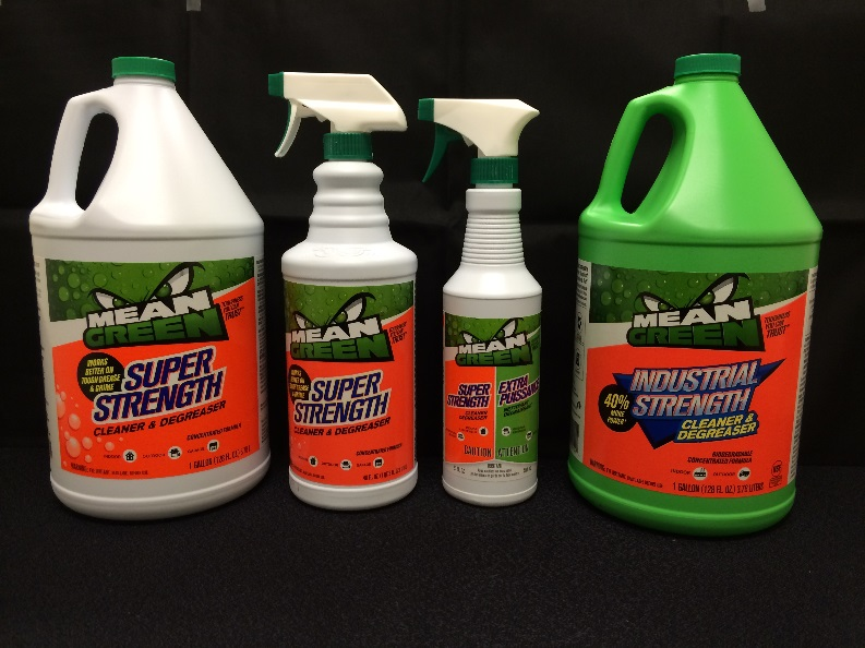 Mean Green® Super Strength Cleaner & Degreaser and Mean Green® Industrial Strength Cleaner & Degreaser