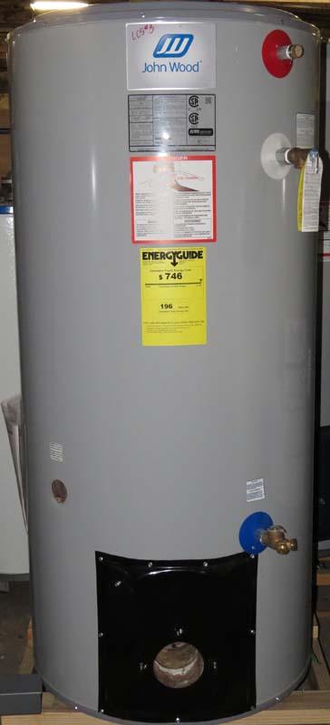 John Wood brand model JW517 50 gallon oil-fired water heater