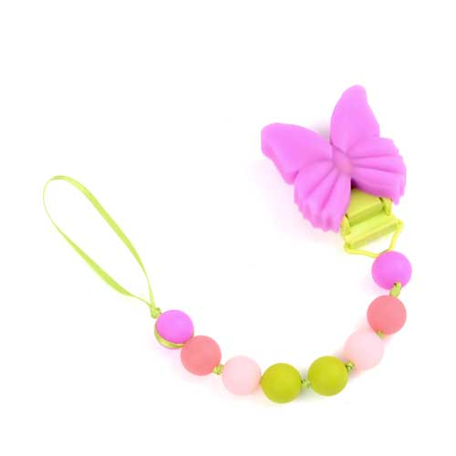 Chewbeads Pacifier Clip – Butterfly