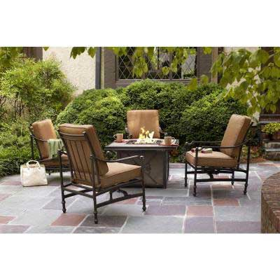 Recalled Hampton Bay-branded Niles Park Collection patio set.