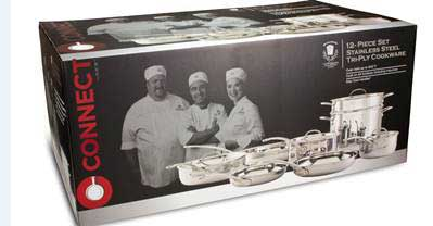 Connect by H-E-B 12-piece cookware set