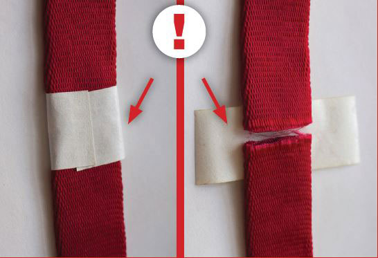 Tape splice in the nylon runner
