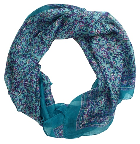 Infinity Fashion Silk Scarf for Women Girls - Trendy Summer Scarves