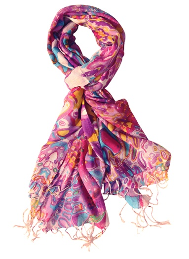 Trendy Pink Infinity Wrap / Stole - Viscose Fashion Scarf for Women & Girls