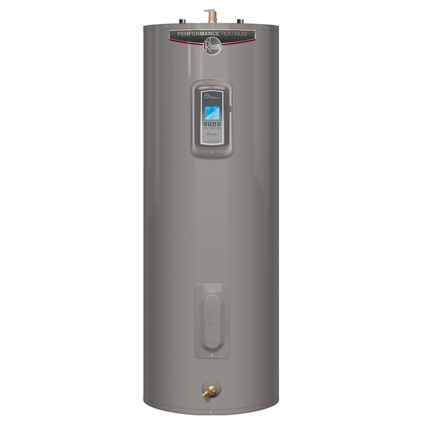 Recalled Rheem brand Performance Platinum electric water heater.