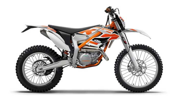 2015 and 2016 KTM brand Freeride 250R off-road motorcycles