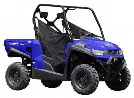 KYMCO utility vehicle model 450i (blue, red and black)