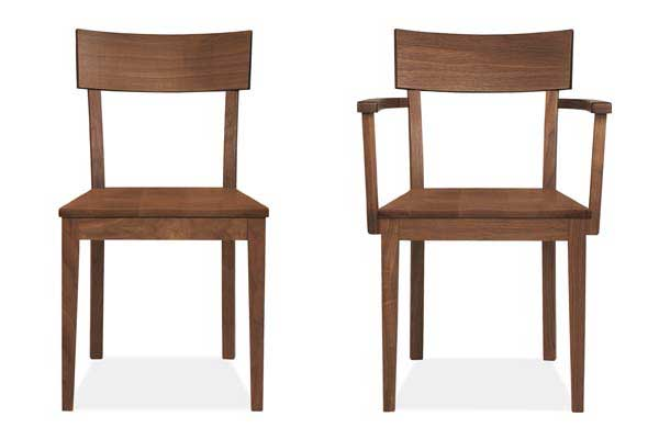 Room & Board's Doyle side chair and arm chair (walnut)