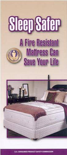 Picture of Cover of CPSC Publication Sleep Safer: A Fire Resistant Mattress Can Save Your Life