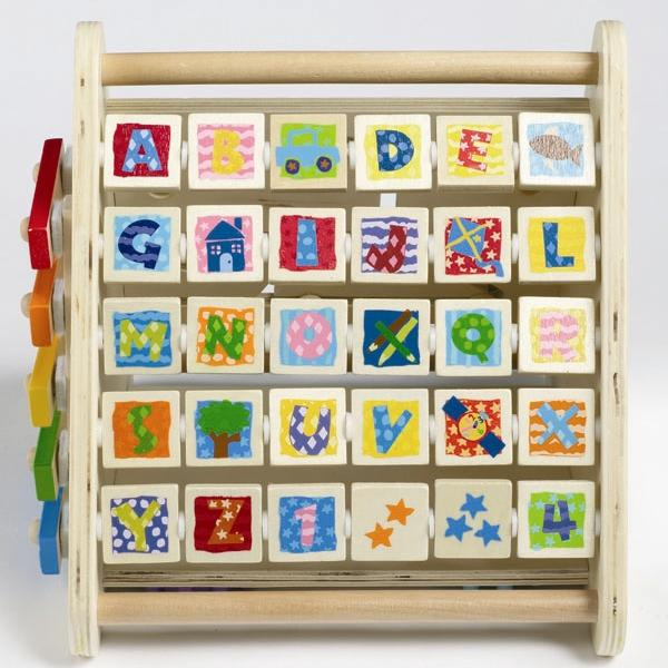 Picture of moveable block letters on recalled Imaginarium 5-Sided Activity Center