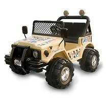 Picture of recalled Tan Range Rider Ride-on Toy Car