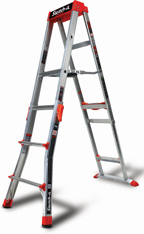 Switch-it stepstool /stepladder in the 6-foot stepladder configuration