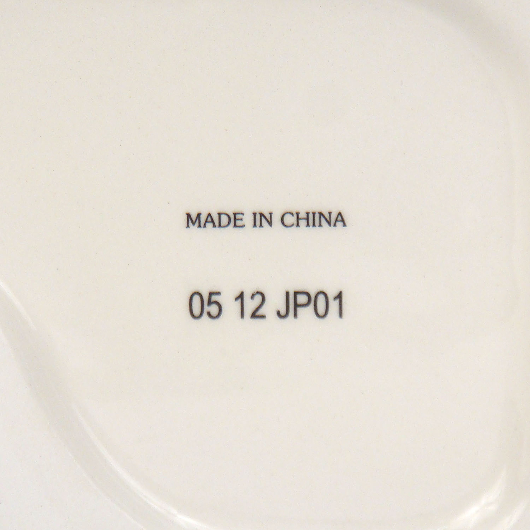 Stamp on the bottom of the ceramic product