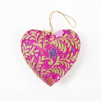 Ornament Heart Magenta